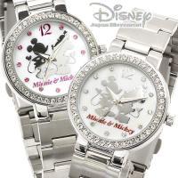腕時計 ディズニー Disney ミッキーマウス ミニーマウス ミッキー&ミニー レディース ラブラ...