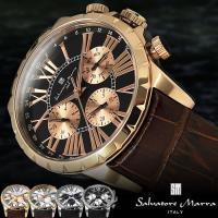 サルバトーレマーラ 革ベルト メンズ腕時計 レザー 本革 時計 SM15103 アナログ ビジネス ...