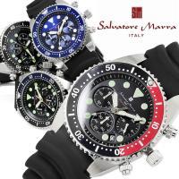 クロノグラフ メンズ腕時計 ダイバーズ 防水 ウレタンバンド 時計 SM16104 サルバトーレマー...