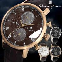 サルバトーレマーラ 腕時計 メンズ マルチファンクション カレンダー 5気圧防水 レザーベルト SM...