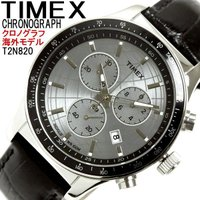 TIMEX タイメックス 腕時計 メンズ クロノグラフ 革ベルト 海外 超レアモデル T2N820。...