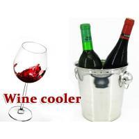 アルミ製のワインクーラーです。シンプルで落ち着いたデザインのワインクーラーを格安でご提供!バーやレス...