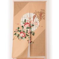 日本の春をイメージする花木を美しく描いたのれんです。その美しさは、「秩父銘仙」を受け継ぐ「ほぐし捺染...