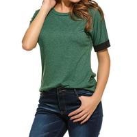 Beyove 女性のカジュアルな半袖快適な緩い t シャツ トップス緑 XXL