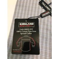 カークランド署名メンズ非鉄ボタンダウン ドレス シャツ