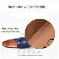 男性、ワニ革メンズ非スリップ スリップをエンボス加工靴 Loafes を運転のための古典的なカジュアル シューズ