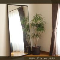 壁掛け鏡 おしゃれ 鏡 姿見 飛散防止ミラーフィルム付き ウォールミラー  大型 木製フレーム 全身...