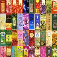 お香40種類から7種類選べるお香セット/1箱20本入り合計140本 送料無料ネコポス便でお送りします。