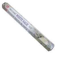 人気のインドHEM社ホワイトセージスティックタイプ御香です。 ネイティブアメリカンのスマッジングにも...