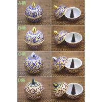 タイ三大焼き物のベンジャロン焼きのコーン専用香炉になります。 細かい絵柄はすべて職人の手描きで見事と...