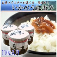 いかのうに塩辛110g 島根県隠岐の島の特産品 ご飯のお供