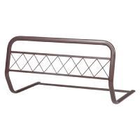 ベッドガード ブラウン ベッド用 ベッドの柵 柵 ガード ズレ落ち防止 転落防止 サイドガード