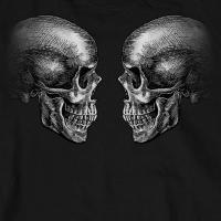 米国直輸入! ホットレザー ジョリー ロジャー ロングスリーブ Tシャツ! 長袖 HOTLEATHERS ブラック 黒 スカル 骸骨 ボーン プリントT バイクに!