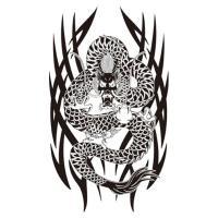 タトゥーシール【ジャイアントサイズ20×36cm】 トライヴドラゴン・双頭龍・鳳凰・昇り竜2・火炎龍...