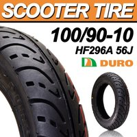 スクータータイヤ 100 90-10 DURO 安心の理由は純正部品採用実績とダンロップとの長期提携工場契約 HF296A 56J TL デューロ バイク