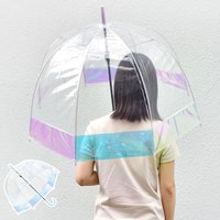 傘 65cm ドーム型 長傘 レディース ビニール傘 丈夫 かわいい 耐風 カラーファイバー グラスファイバー 雨具 雨傘 通学 キッズ