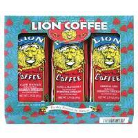 ライオンコーヒー人気3種セット。 舌を転がるようなふくよかなヨーロピアンテイスト『カフェハワイ』、バ...