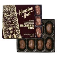 ハワイアンホースト定番商品『マカデミアナッツチョコレートTIKI』8粒入り。ハワイ産マカデミアナッツ...