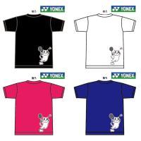 YONEXの限定Tシャツ。   かわいいデザインで練習などにも最適なドライ半袖Tシャツです。  ジュ...
