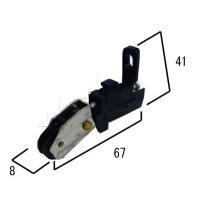 (メール便可)網戸用取替戸車セット セキスイ用 左右1個ずつ2個入 品番S-1 規格6型サッシ 4560172790438