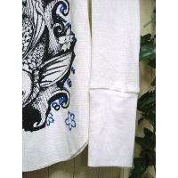 廃盤 鯉柄長袖Tシャツ ロンT レディース インポート 服 ロック /wot008