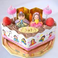 ひな祭り 限定 ・ ひなまつり アイスケーキ チョコ ver (ひし形)