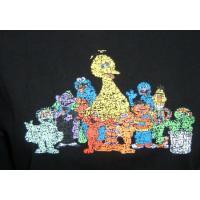セサミストリート 長袖Tシャツ キャラクター全員 4-0015 黒