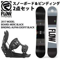 2017 FLOW フロー スノーボード MERC BLACK & ビンディング ALPHA EXO...