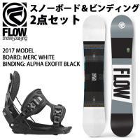 2017 FLOW フロー スノーボード MERC WHITE & ビンディング ALPHA EXO...