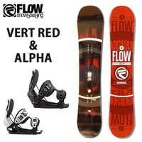 FLOW フロー スノーボード 板 ビンディング 2点セット 板 VERT RED(2017)&am...
