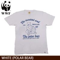 WWF/世界自然保護基金 Tシャツ S/S TEE WWF/WHITE (POLAR BEAR)