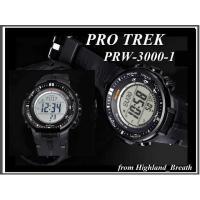 ■PRO TREK(プロトレック)『トリプルセンサーVer.3』PRW-3000-1 ●ケース・ベゼ...