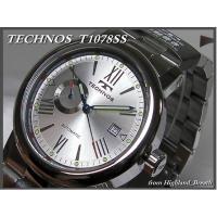 ★TECHNOS テクノスT1078SS ●仕様:カレンダー、24時間計、 ●防水:10気圧、 ●ム...