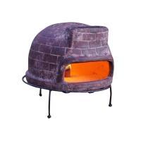 屋外用暖炉・ストーブ(チムニー)、台付きなので、テーブルが焦げません