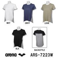 ARS-7223W ARENA(アリーナ) ストレッチスムース レディースAラインTシャツ スイミン...