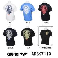 ARSK7119 ARENA(アリーナ) バックメッシュ Tシャツ アリーナ君/アリーナクン/スイミ...