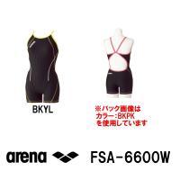 FSA-6600W ARENA(アリーナ) レディース競泳練習水着 タフスーツ タフスキンストライプ...