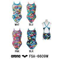 FSA-6609W ARENA(アリーナ) レディース競泳練習水着 タフスーツ タフスキンD スーパ...