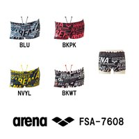 FSA-7608 ARENA(アリーナ) メンズ競泳練習水着 タフスーツ タフスキンD ショートボッ...