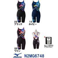 送料無料 N2MG6748MIZUNO(ミズノ) レディース競泳水着 Stream Aqutiva ...