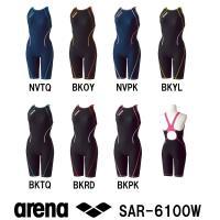 SAR-6100W ARENA(アリーナ) レディース競泳練習水着 タフスーツ タフスキンストライプ...