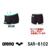 SAR-6102 ARENA(アリーナ) メンズ競泳練習水着 タフスーツ タフスキンストライプ ショ...