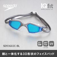 水泳ゴーグル SD93G02C-BL SPEEDO(スピード) スイミングゴーグル アクアパルスマッ...