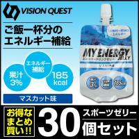 ビジョンクエスト VISION QUEST エネルギーゼリー スポーツゼリー マスカット味 箱売り 30個 EGJ-M エネルギー補給 ゼリー飲料 低価格 bb