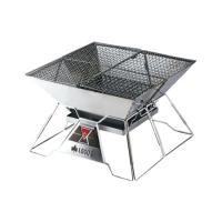 ピラミッドグリルがフルモデルチェンジしました 灰受け皿標準装備 焚き火、バーベキュー、ダッチオーブン...