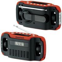 FM/AMラジオ・LEDライト・モバイル機器への充電・時計・アラームの5つの機能を備え、災害時やアウ...