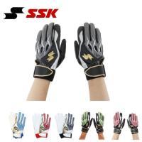 エスエスケイ SSK 野球 バッティンググローブ 両手用 メンズ プロエッジ一般シングルバンド手袋 EBG5000W