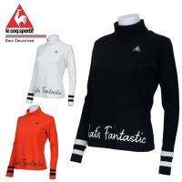 ルコックゴルフ冬の定番素材、アクリル×レーヨンの柔らかく、暖かいタッチが特徴の長袖シャツ。1枚で着て...
