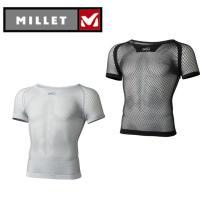 ミレー MILLET アンダーシャツ メンズ レディース DRYNAMIC MESH SS ドライナミック メッシュ ショート スリーブ クルー MIV01566