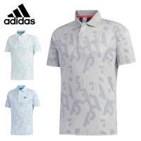 アディダス ゴルフウェア ポロシャツ 半袖 メンズ バックサイドプリント 半袖ポロ GLD21 adidas